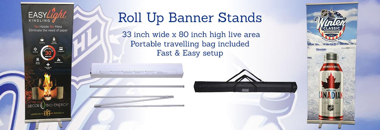 Roll Up Vinyl Banner Stands